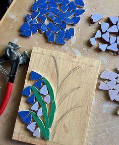 #workinprogress #wip #mosaics #mosaic #bluebells #flowers #flowerstagram