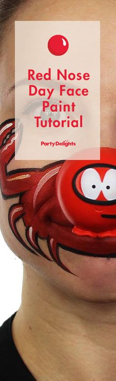 Get some fun Red Nose Day face paint ideas for Comic Relief 2015 from the brilliant Ashlea Henson. This year's theme is make your face funny for money and this face paint design even incorporates the official red nose!