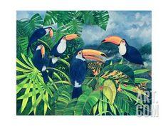 Toucan Talk Giclee Print by Lisa Graa Jensen at Art.co.uk