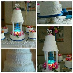 I've always wanted a fountain in my wedding cake... that's the one thing I've always wanted since a little girl