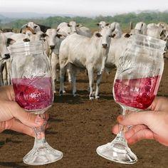 So funny! and cute! Mason Jar Wine Glasses
