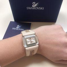 Final Sale!! Swarovski Leather And Crystal Watch