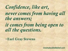 Confidence – Earl Gray Stevens | Unshakeable Belief! Description from unshakeablebelief.com. I searched for this on bing.com/images