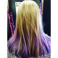 Image result for purple peekaboos in brown hair