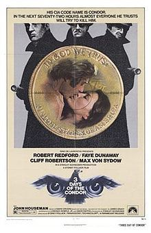 Three Days of the Condor poster.