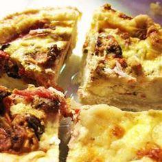 Cheesy Quiche Crust Recipe