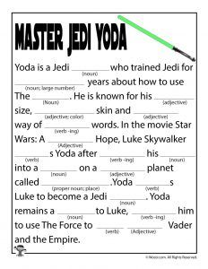 Star Wars Mad Libs Games | Woo! Jr. Kids Activities