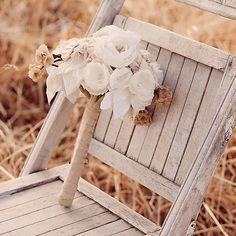 gorgeous faux bouquet with white petals (by florabond, photo by jaclyn davis)