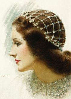 "Norma Shearer as ""Juliet"" Charles Gates Sheldon. Original illustration for Motion Picture magazine. Vintage Bridal, Vintage Love, Vintage Beauty, Vintage Art, Vintage Ladies, Vintage Fashion, Vintage Paintings, Rolf Armstrong, Vintage Pictures"