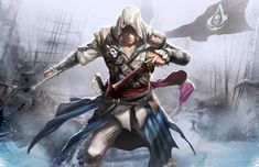 Black flag by longai on deviantART Assassins Creed Black Flag, Assassins Creed Unity, Assasin Cred, Assassin Game, Assassin's Creed Brotherhood, Leap Of Faith, Arno Dorian, Edwards Kenway, Pistols