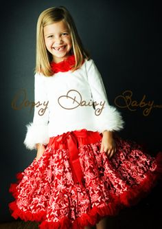 Oopsy Daisy Baby Red Lace Pettiskirt (clearance) $48