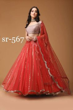 Shop #Designer #Lehenga #Choli SR-567 Replica Online with the best price. Flaunt latest styled cuts and look with these Indian Dresses, Give yourself the stylish look for Family Parties and Wedding.  Product Quality Rated: 4/5 Availability: On Request Price Range:  US$$  Always get the Best Price. Retail (Singles) and Wholesale (Bulk) Orders are Welcome.  ⇒ Explore All Designs a.k.a Looks Now…