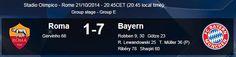 스포츠배팅 !! 루루의 몸으로 느낀...: UEFA 챔피언스 리그에서 바이에른 뮌헨,  AS 로마  7-1 무자비 원정폭격
