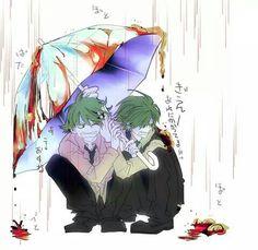 Lifty & Shifty (good thing they have an umbrella) Happy Tree Friends, Free Friends, Randowis Comics, Htf Anime, Dont Hug Me, Friend Anime, Creepy Cute, Manga Games, Anime Style