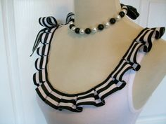 Embellished Tank Top with Fun Black and White by RaspberryMarket, $32.00