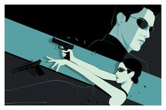 """The Matrix"" by Craig Drake - silkscreen poster 36x24, Bottleneck Gallery, NY - ""Get a Room"" show: 2-15-13."