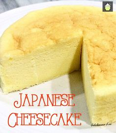 Japanese Cheesecake. This is a wonderful baked cheesecake, light and as fluffy as a feather! Easy recipe and always popular with a cup of tea!