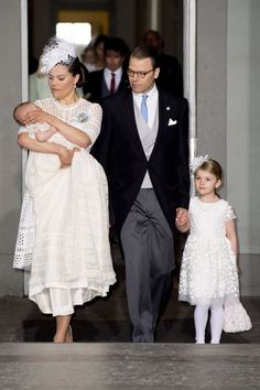 At the baptism of Prince Oscar of Sweden