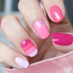 Nine Inch Nails pictures and images gallery. All the resources you need to know about Nine Inch Nails. Read and learn more about Nine Inch Nails. Baby Pink Nails, Cute Pink Nails, Pink Nail Art, Love Nails, Pretty Nails, Pink Manicure, Blush Nails, Colorful Nails, Girls Nails