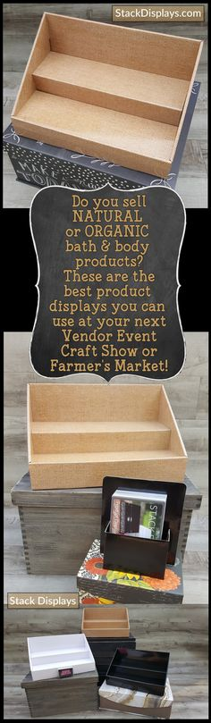 Do you sell natural or organic bath & body products? These are perfect displays to use at your next vendor event, craft show or farmer's market!!