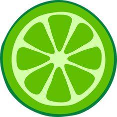 green clip art | Lime Slice clip art