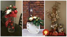 Vezmite obyčajnú vázu, pár konárikov, čečinu a vianočné ozdoby: 21 najkrajších kytíc na celý advent – vydržia celé týždne! Advent, Christmas Tree, Holiday Decor, Home Decor, Teal Christmas Tree, Decoration Home, Room Decor, Xmas Trees, Christmas Trees