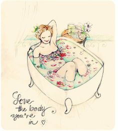 love the body you're in. >> I'm sorry but I don't think I could love a body like that. She has no nose and I just wouldn't be able to handle not having a nose Body Love, Loving Your Body, Positive Body Image, Fat Positive, Make Me Smile, Self Love, Decir No, Feel Good, Watercolor Paintings