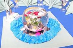 Cool table decorations with fish