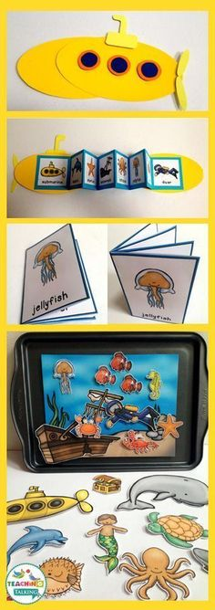 Try these fun ocean theme vocabulary activities for kids!