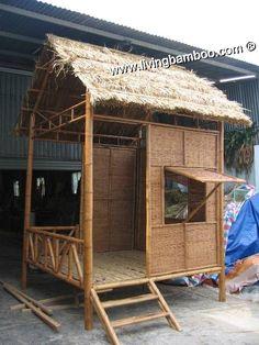 Parede de bambu gazebo casa design simples para relaxar, pequeno…
