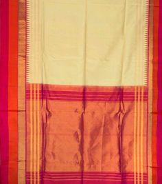 Venkie Reddy Handwoven Gadwal Silk Sari 1008168 - Saris / Gadwal - Parisera