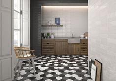 Allegro - Brick and Hexa perfect combination for kitchen