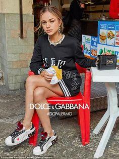 126b58d76 Lady Amelia Windsor models in Dolce   Gabbana campaign