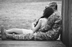 There is no safer place than in my solider's arms.
