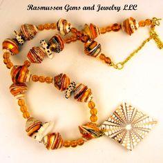 LD Seashell and Bead Necklace Seashell Delight