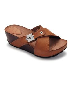 Take a look at this Brown Elon Platform Slide by Scholl on #zulily today!