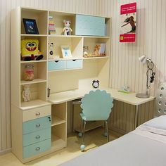 76 Multifunctional Study Desk Designs for Children - Study tables are one of the most commonly found furniture in children's . Ikea Study Table, Find Furniture, Home Furniture, Kids Study Spaces, Purple Bedroom Design, Kids Room Bookshelves, Study Table Designs, Master Bath Vanity, Small Living