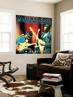 Albert King with Stevie Ray Vaughan - In Session Wall Mural - at AllPosters.com.au