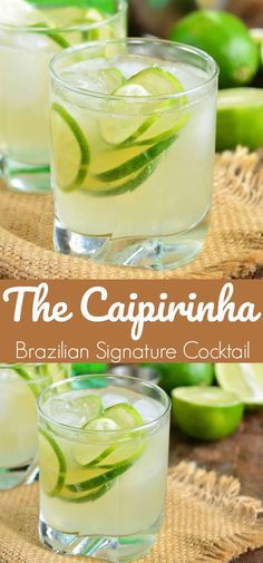 Caipirinha is a traditional Brazilian cocktail made with Cachaca liquor limes and sugar. Very simple refreshing cocktail that is best sipped slowly. Lime Drinks, Malibu Drinks, Fun Drinks, Beverages, Refreshing Cocktails, Easy Cocktails, Cocktail Drinks, Caipirinha Cocktail, Craft Cocktails