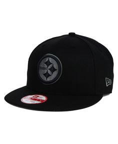 New Era Pittsburgh Steelers Black Gray 9FIFTY Snapback Cap