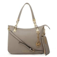 Michael Kors Cynthia Logo Large Grey Satchels, Your First Choice