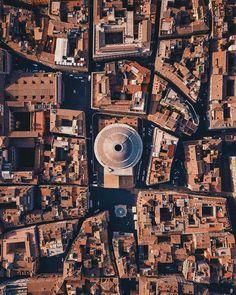 Vista aérea Panteón Roma