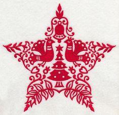 Scandinavian Christmas Designs | It's a Scandinavian Christmas! Stitch this classic star design on ...