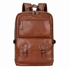 Multifunctional Leather Men Backpack High Quality Leather Travel Backpack