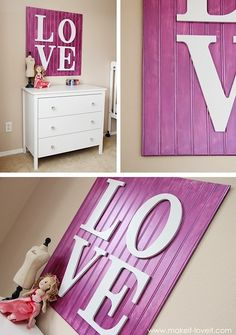 teen room poster walls | Teen Room LOVE Letter Accessories | KidSpace Interiors