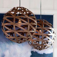 wood veneer pendant