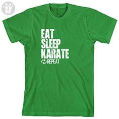 Eat Sleep Karate Repeat Men's Shirt - XXXXX-Large - Kelly Green (*Amazon Partner-Link)