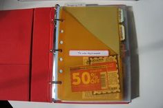 How to make a mini coupon binder with Martha Stewart office supplies