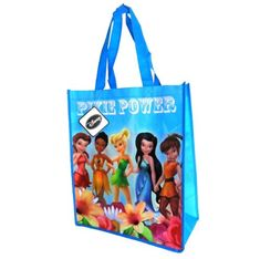 Disney Fairies Tinkerbell Reusable Tote Bag (14 x 15 inches) * Click on the image for additional details.