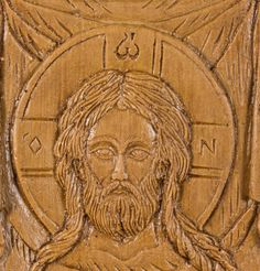 Made Without Hands small aromatic wall icon made with pure beeswax, mastic and incense from Mount Athos Small Icons, Christian Gifts, Wall Plaques, Incense, Jesus Christ, Hand Carved, Carving, Hands, Pure Products